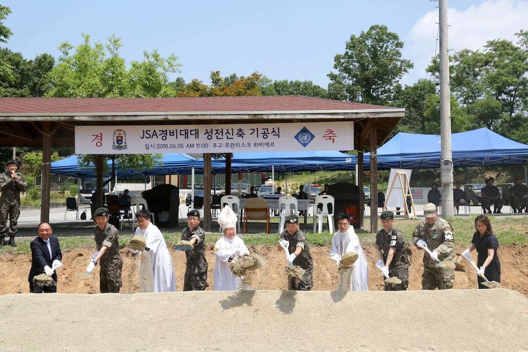 南韓在跟北韓接壤的板門店非軍事區內建造「和平小堂」