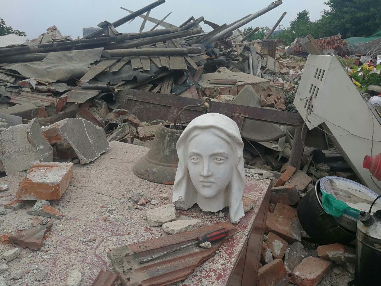濟南教友請願前王教堂遭強拆,當局答應妥善處理