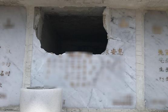 天主教墳場遭破壞後已加強保安巡查,防再發生同類事件