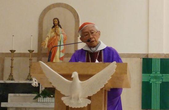 陳日君樞機說:「教宗方濟各應停止與北京談判。」
