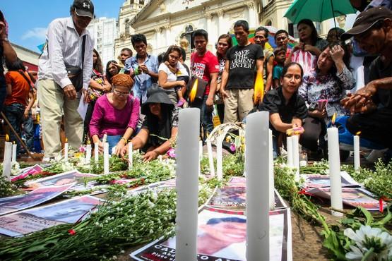 在菲律賓舉行的追思已亡瞻禮,紀念當地的「被迫失蹤者」