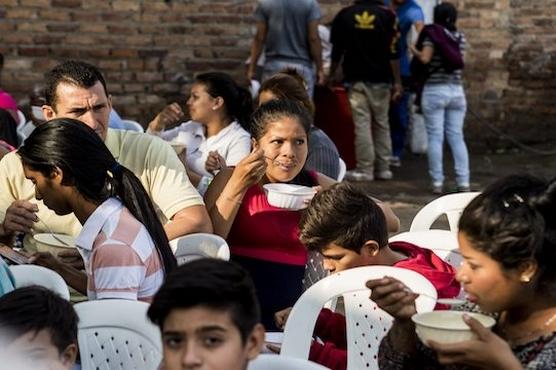 哥倫比亞教會向百萬名委內瑞拉人提供食物援助